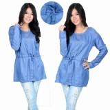 Harga Yuki Fashion Blouse Sannia Biru Muda 1 Yang Murah