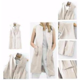 Jual Yuki Fashion Long Vest Coat Bw Antik