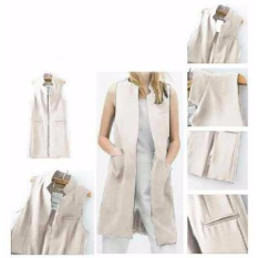 Yuki Fashion Long Vest Coat Bw Diskon Akhir Tahun