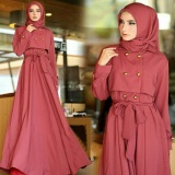 Jual Yuki Fashion Maxy Edelwis Pashmina Maroon Best Seller Yuki Fashion Original