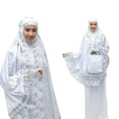 Yuki Fashion Mukena Dewasa Kartika Katun Foil - Putih 3 - Best Seller