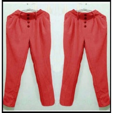 Yuki Fashion Pants Aurel - Merah 1 - Best Seller
