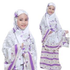 Yuki Fashion Setelan Mukena Kids Kanaya Untuk 6 - 8 Tahun - Ungu1 - Best Seller