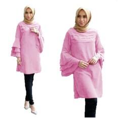 Toko Yuki Fashion Tunik Katty Baby Pink 3 Online Di Dki Jakarta