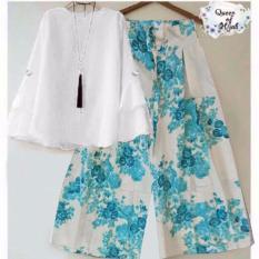 yunashop stelan kulot set kulot baju trendy anata atasan putih