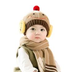 Yunmiao Bayi Anak Perempuan Anak Laki-laki Lucu Topi dan Scarf Set, 6-