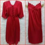 Yunyny Kimono Baju Tidur Sleepwear Merah Promo Beli 1 Gratis 1
