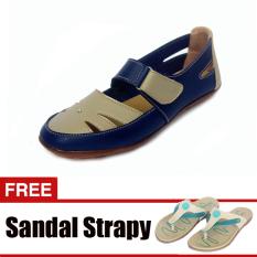 Jual Yutaka Casual Flat Shoes Biru Gratis Yutaka Sandal Strapy Krem Grosir