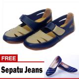 Toko Yutaka Flat Shoes Biru Yutaka Flat Shoes Jeans Biru Terlengkap