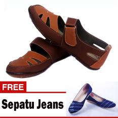 Diskon Yutaka Flat Shoes Cokelat Yutaka Flat Shoes Jeans Biru Yutaka