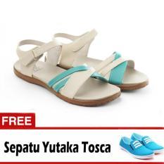 Yutaka Sandal Triple Strappy D6 Krem GRATIS Yutaka Sepatu Kets Sneakers Tosca