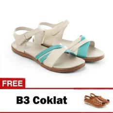 Spesifikasi Yutaka Sandal Triple Strappy D6 Krem Gratis Yutaka Sepatu Wanita B3 Coklat Online