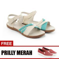 Jual Cepat Yutaka Sandal Triple Strappy D6 Krem Gratis Yutaka Sepatu Wanita Slip On Prilly Merah