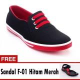 Jual Yutaka Sepatu Kets Sneakers Hitam Merah Free Footage Sandal Pria F 01 Hitam Merah Ukuran 40 Online