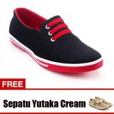 Toko Yutaka Sepatu Kets Sneakers Hitam Merah Gratis Sp30 Cream Online Jawa Timur
