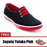 Penawaran Istimewa Yutaka Sepatu Kets Sneakers Hitam Merah Gratis Sp30 Pink Terbaru