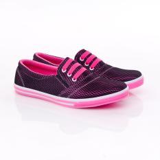 Spesifikasi Yutaka Sepatu Kets Sneakers Hitam Pink Terbaru