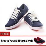 Spesifikasi Yutaka Sepatu Kets Sneakers Navy Gratis Yutaka Sepatu Kets Sneakers Hitam Merah Murah Berkualitas