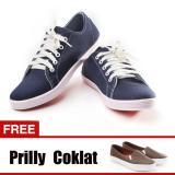 Harga Yutaka Sepatu Kets Sneakers Navy Gratis Yutaka Sepatu Wanita Slip On Prilly Coklat Satu Set