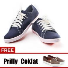 Jual Beli Online Yutaka Sepatu Kets Sneakers Navy Gratis Yutaka Sepatu Wanita Slip On Prilly Coklat