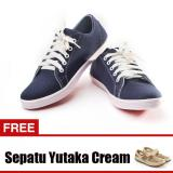 Beli Yutaka Sepatu Kets Sneakers Navy Gratis Yutaka Sepatu Wanita Sp30 Krem Terbaru