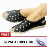 Promo Toko Yutaka Sepatu Wanita Hitam Gratis Sepatu Triple
