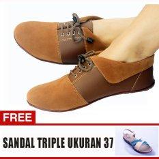 Toko Yutaka Sepatu Wanita N30 Jahe Gratis Sepatu Triple Ukuran 37 Murah Jawa Timur