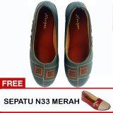 Spesifikasi Yutaka Sepatu Wanita N32 Abu Abu Gratis Sepatu N33 Merah Paling Bagus