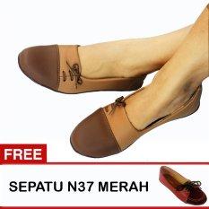 Jual Yutaka Sepatu Wanita N33 Coklat Gratis N37 Merah Branded