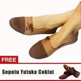 Jual Yutaka Sepatu Wanita N33 Coklat Gratis Sepatu Sp30 Tan Jawa Timur Murah
