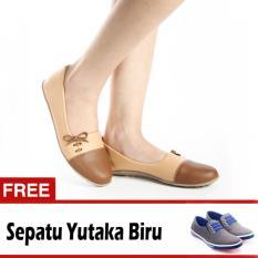 Spesifikasi Yutaka Sepatu Wanita N33 Coklat Gratis Yutaka Sepatu Kets Sneakers Abu Abu Biru Yutaka Terbaru