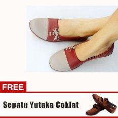Review Yutaka Sepatu Wanita N33 Merah Gratis Sepatu Sp30 Tan Di Jawa Timur