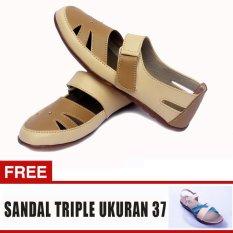 Yutaka Sepatu Wanita Sp30 Kream Jahe + Gratis Sepatu Triple Ukuran 37