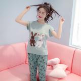 Spesifikasi Yuzhaolin Kartun Baju Tidur Katun Musim Panas Perempuan Layanan Rumah Korea Fashion Style 7790 Celana 3 4 Baru