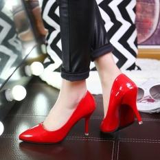 Z Spring Eropa dan Amerika Serikat Mulut Tunggal Dangkal Sepatu, Wanita Karir OL Sepatu Kerja, Wanita Fashion-Intl