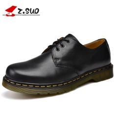 Spesifikasi Z Suo Pria Sepatu Kulit Work Boot Unisex Oxford Hitam Intl Z Suo Terbaru