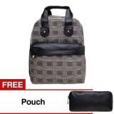 Toko Zada Ashley Backpack Dan Bonus Pouch Hitam Lengkap Jawa Barat