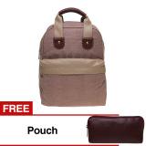 Harga Zada Ashley Backpack Dan Bonus Pouch Ungu Lengkap