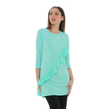 Diskon Zada Asymetric Frill Dress Mint Branded