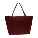 Jual Zada Croco Tote Bag With Zipper Maroon Grosir