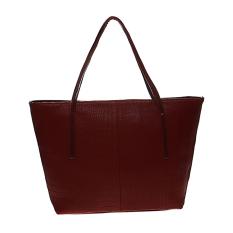 Ulasan Lengkap Tentang Zada Croco Tote Bag With Zipper Maroon