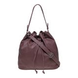 Zada Drawstring Shoulder Bag Dusty Pink Asli