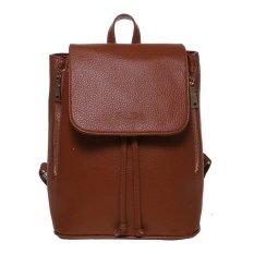 Harga Zada Foldover Flap Backpack Brown New