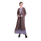Harga Zada Maxi Dress Basic Knot Coklat Abu Original