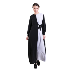 Zada Maxi Dress Basic Knot - Hitam / Putih