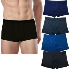 Zada Celana Dalam Pria Boxer Polos isi 4 pcs - Basic Terlaris dan Terbaru 2018