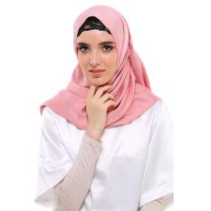 Spesifikasi Zada Pashmina Satin Velvet Pink Bagus