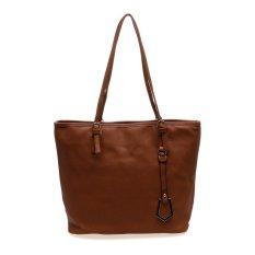 Harga Zada Premium Tote Bag With Charm Cokelat Termurah