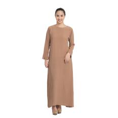 Zada Raya Gamis Maxi Dress - Cokelat Milo