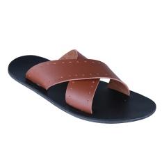 Jual Zada Sandal Pria Coklat Muda Zada Original